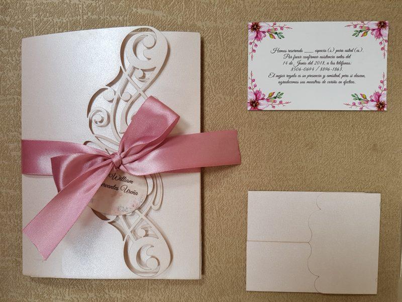 Invitacion de bodas sobre láser clásico RT