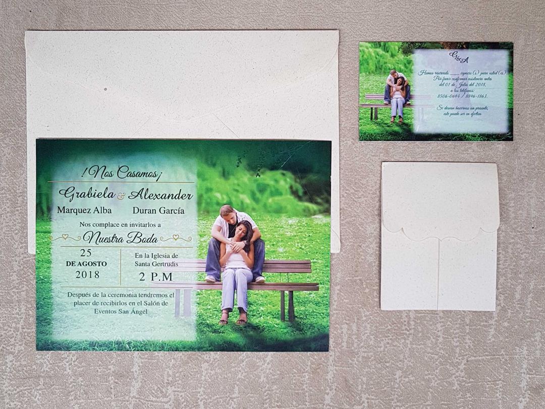 invitaciones de boda modelo tradicional