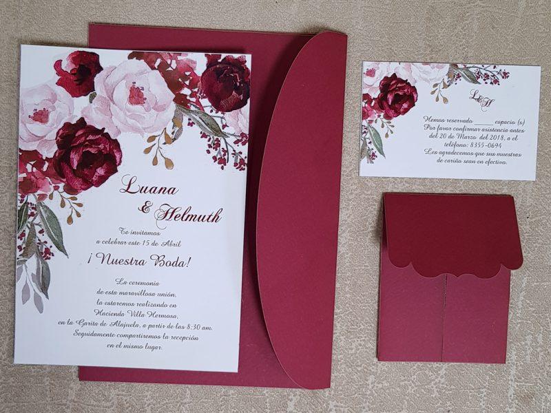 invitaciones de boda sobre lord tradicional