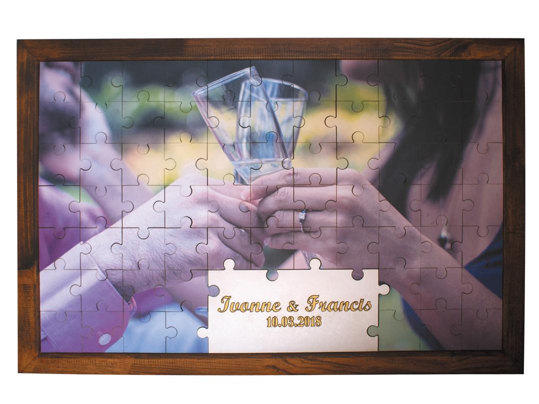 Cuadro para mensajes modelo rompecabezas puzzle