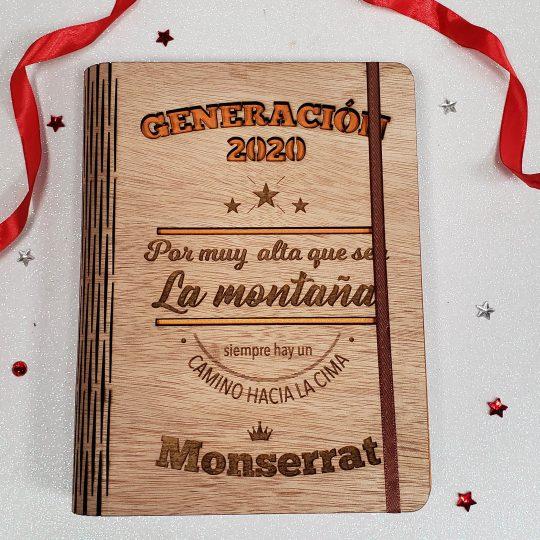 Cuaderno cubierta madera